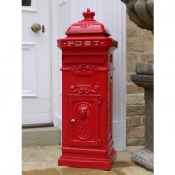 aluminium-post-box-red