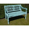 blue-mahogany-bench