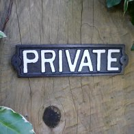 cast-iron-private-sign