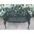 green-cast-iron-leaf-bench
