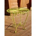 green-retro-table
