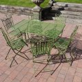 t46-antique-green-table-and-chairs